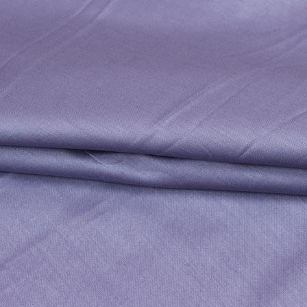 Purple Plain Cotton Silk Fabric-16433