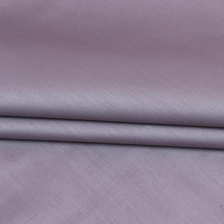 Purple Plain Cotton Silk Fabric-16455