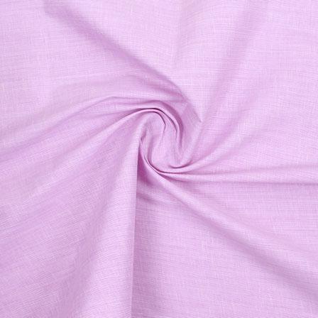 Purple Plain Handloom Cotton Fabric-40679