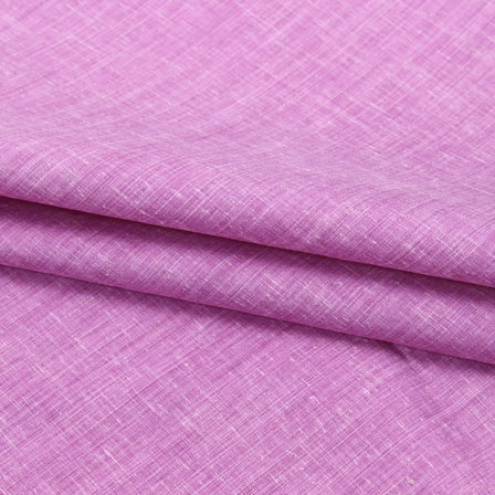 Purple Plain Linen Cotton Fabric-40643