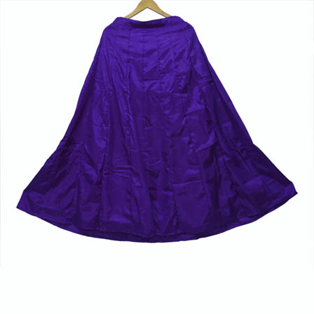 Purple Plain Shantoon Skirt-23014