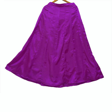 Purple Plain Shantoon Skirt-23042