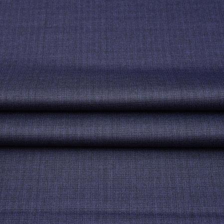 Men Unstitched Trouser (1.2 MTR)-Purple Plain Cotton Wool Fabric-42197