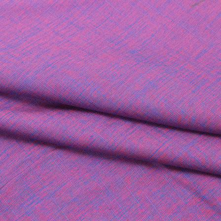 Linen Cotton Shirt (2.25 Meter)-Purple Two tone Linen-140638