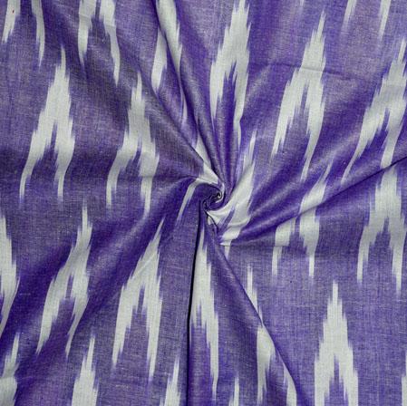 Purple White Ikat Cotton Fabric-11126