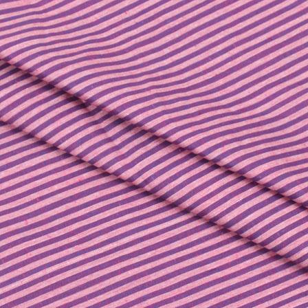 Cotton Shirt (2.25 Meter)-Purple White Striped Handloom-140706