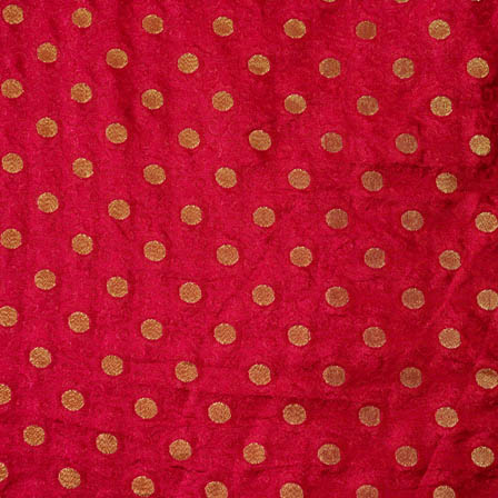 Purple and Golden polka pattern silk brocade fabric-4681