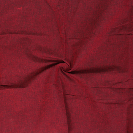 Red Cotton Samray Handloom Fabric-40070