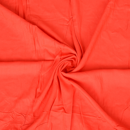 Red Handloom Rayon Fabric-40198