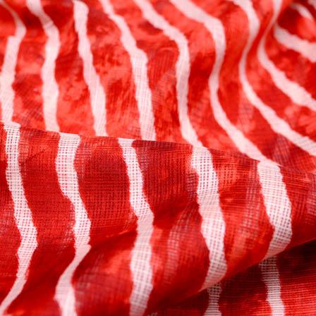 Red Leharia kota doria fabric-4917