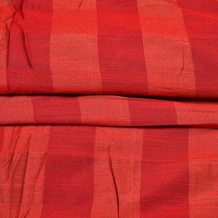 Red Orange Checks South Cotton Fabric-42571