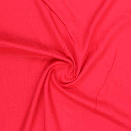 Red Plain Khadi Rayon Fabric-40688