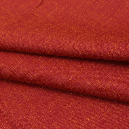 Red Plain Linen Cotton Fabric-40636