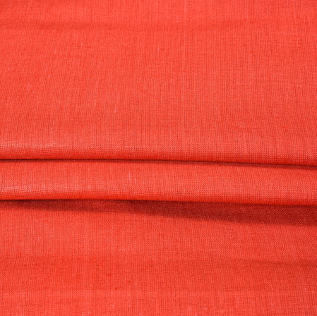 Red Plain Linen Fabric-90151