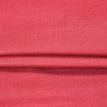 Red Plain Linen Fabric-90152