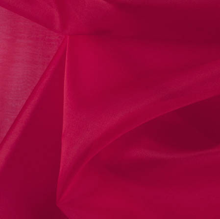 Red Plain Organza Silk Fabric-51801