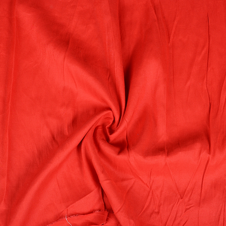 Red Rayon Handloom Fabric-40259