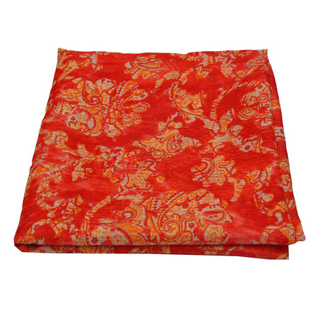 Red and Beige Unique Design Kota Doria Fabric-25015