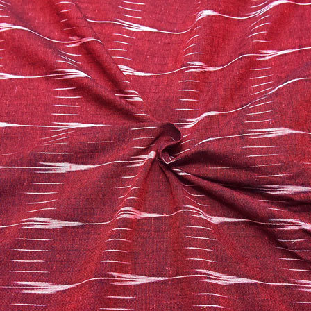 Red and White Unique Design Ikat Fabric-12044
