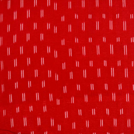 Red and white double lined ikat fabric-5083