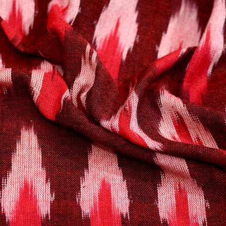 Red and white ikat fabric-5092