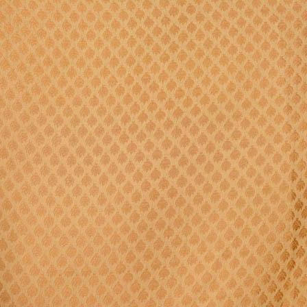 Royal Golden small flower shape brocade silk fabric-4658