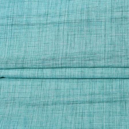 SeaGreen Blue Plain Handloom Fabric-42038