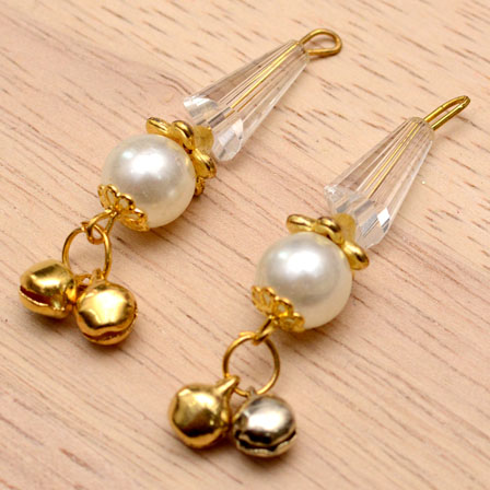 Decorative Handmade Hanging Bells with Crystal Stones-0088
