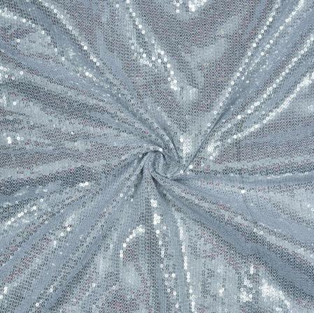 Silver Sequin Fabric-18873