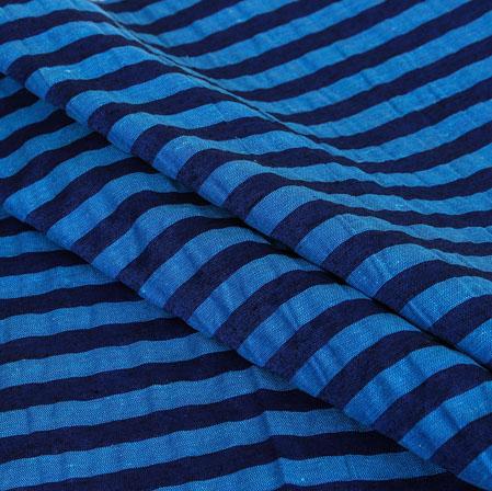 Sky Blue Blue Stripe Handloom Cotton Fabric-40956
