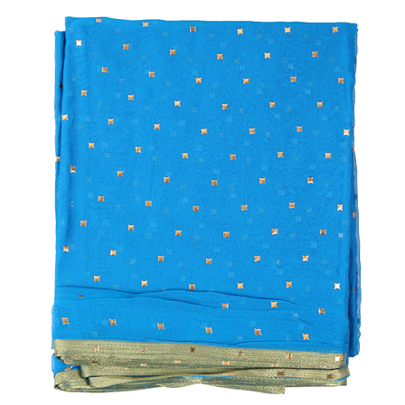 Sky Blue Chiffon Fabric-29067