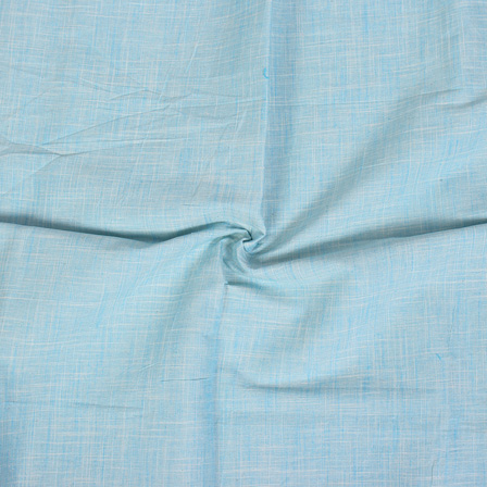 Sky Blue Filafil Samray Handloom Cotton Fabric-40073