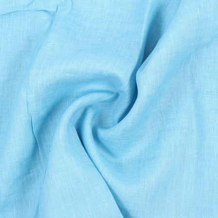 Sky Blue Plain Handloom Khadi Cotton Fabric-40498