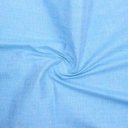 Sky Blue Plain Handloom Cotton Fabric-40680