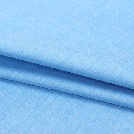 Cotton Shirt (2.25 Meter)-Sky Blue Plain Handloom-140680