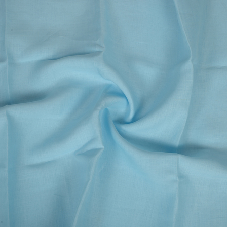 Sky Blue Plain Indian Linen Fabric-90019