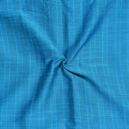 Sky Blue Stripes Print South Cotton Fabric-15229