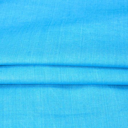 SkyBlue Plain Linen Fabric-90148