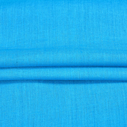 SkyBlue Plain Linen Fabric-90158