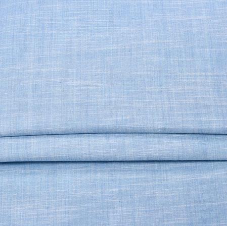 SkyBlue SkyBlue Plain Handloom Fabric-42027
