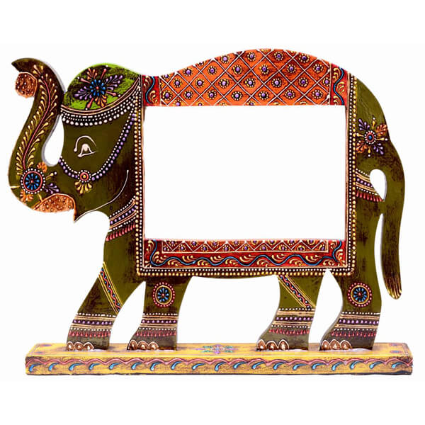 Teak Wood Ganpati Photo Frame