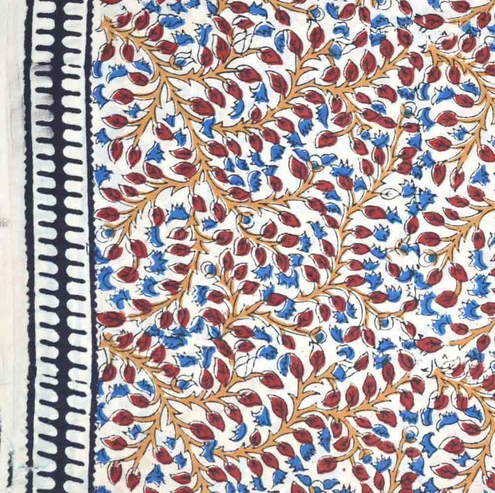 Buy traditional kalamkari pattern indian cotton fabric by for Purchase fabric by the yard