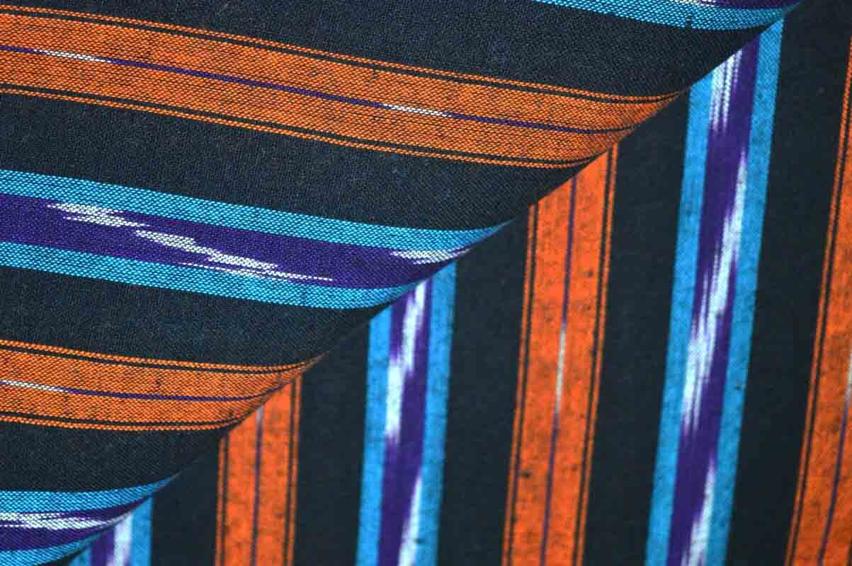 Unique Weaving Black Ikat Blouse Fabric