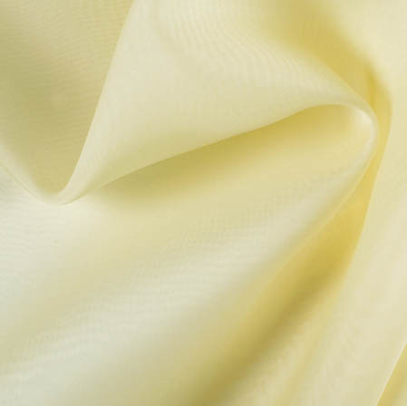 Wheat Plain Organza Silk Fabric-51805