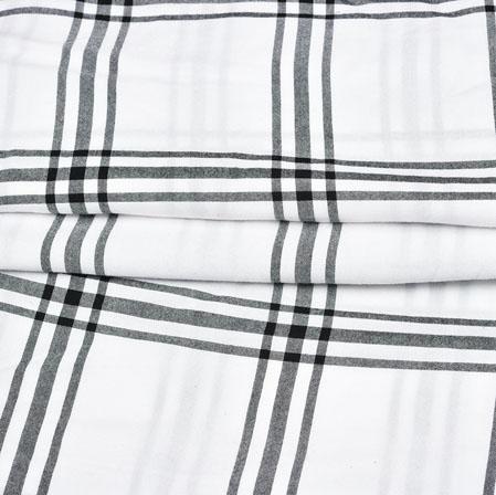 White Black Checks Handloom Cotton Fabric-42542