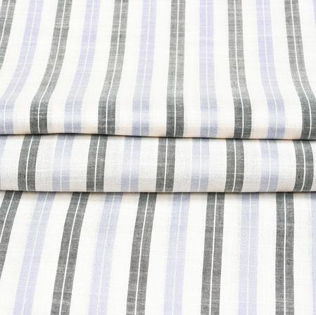 White Black Stripe Cotton Fabric-42392