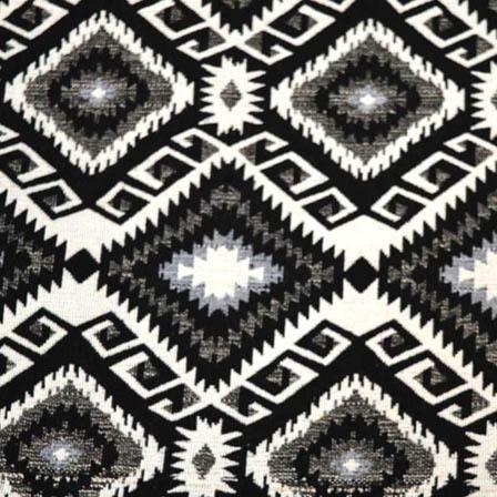 White-Black and Gray Square Shape Cotton Jacquard Fabric-31036