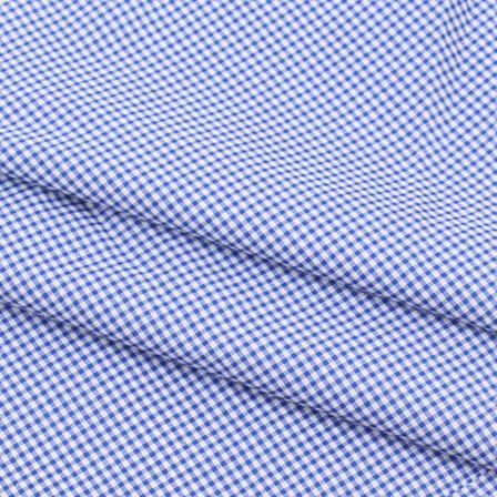 Khadi Shirt (2.25 Meter) Fabric-White Blue Check Handloom-140459