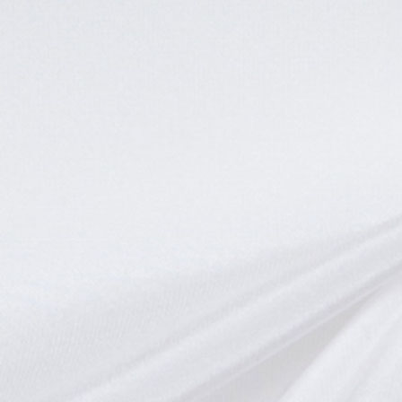 White Lightweight Silk-Poly Taffeta Fabric-6528