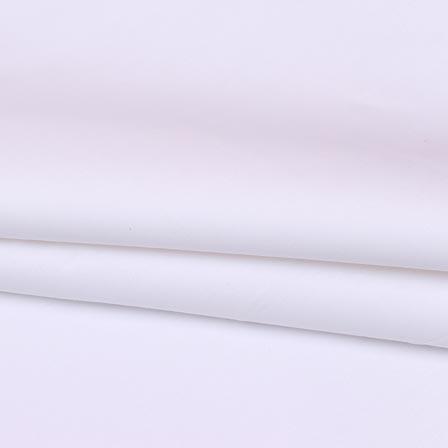 White Plain Cotton Silk Fabric-16449